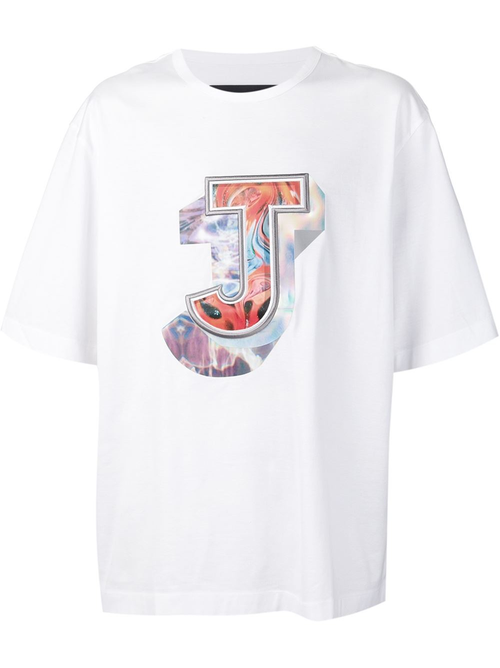 Juun J Printed And Embroidered Logo T Shirt In Multicolor