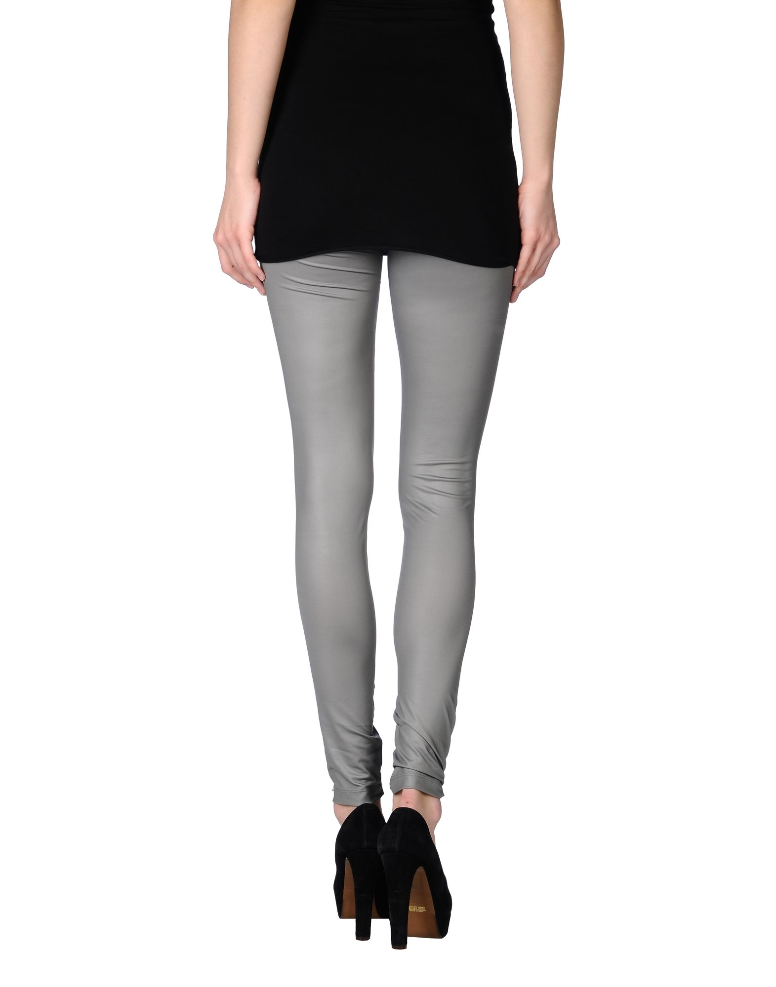 Msgm Synthetic Leggings In Light Grey Gray Lyst