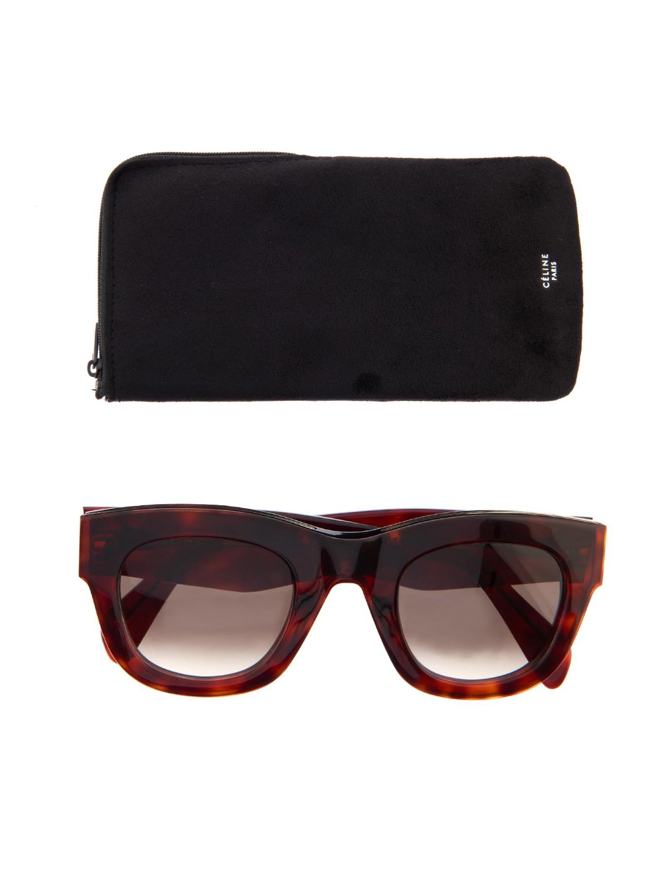 Lyst - Céline D-Frame Acetate Sunglasses in Purple