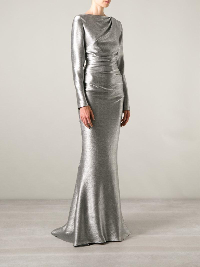 Lyst Talbot Runhof Dorango 2 Evening Gown In Metallic