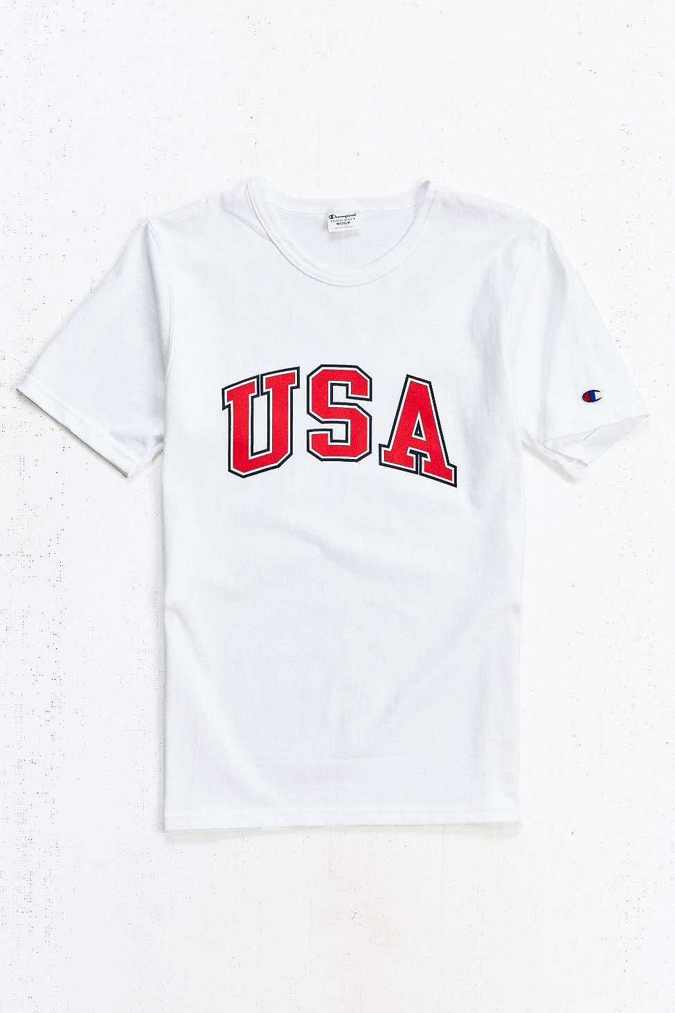 8e78a83bd133 Lyst - Champion Reverse Weave Usa Heritage Tee in White for Men