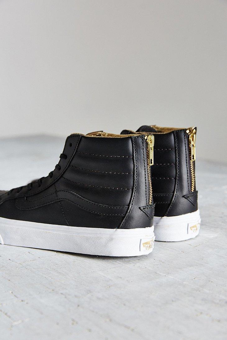 Lyst - Vans Leather Sk8-hi Slim Zip Sneaker in Black f77ae5ec4