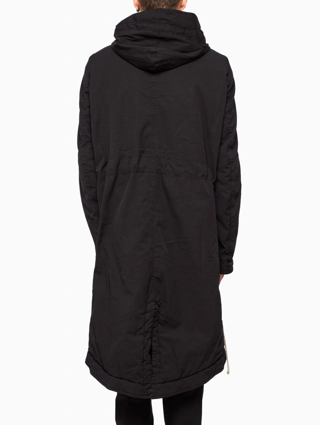 Drkshdw by rick owens Fishtail Parka in Black for Men | Lyst