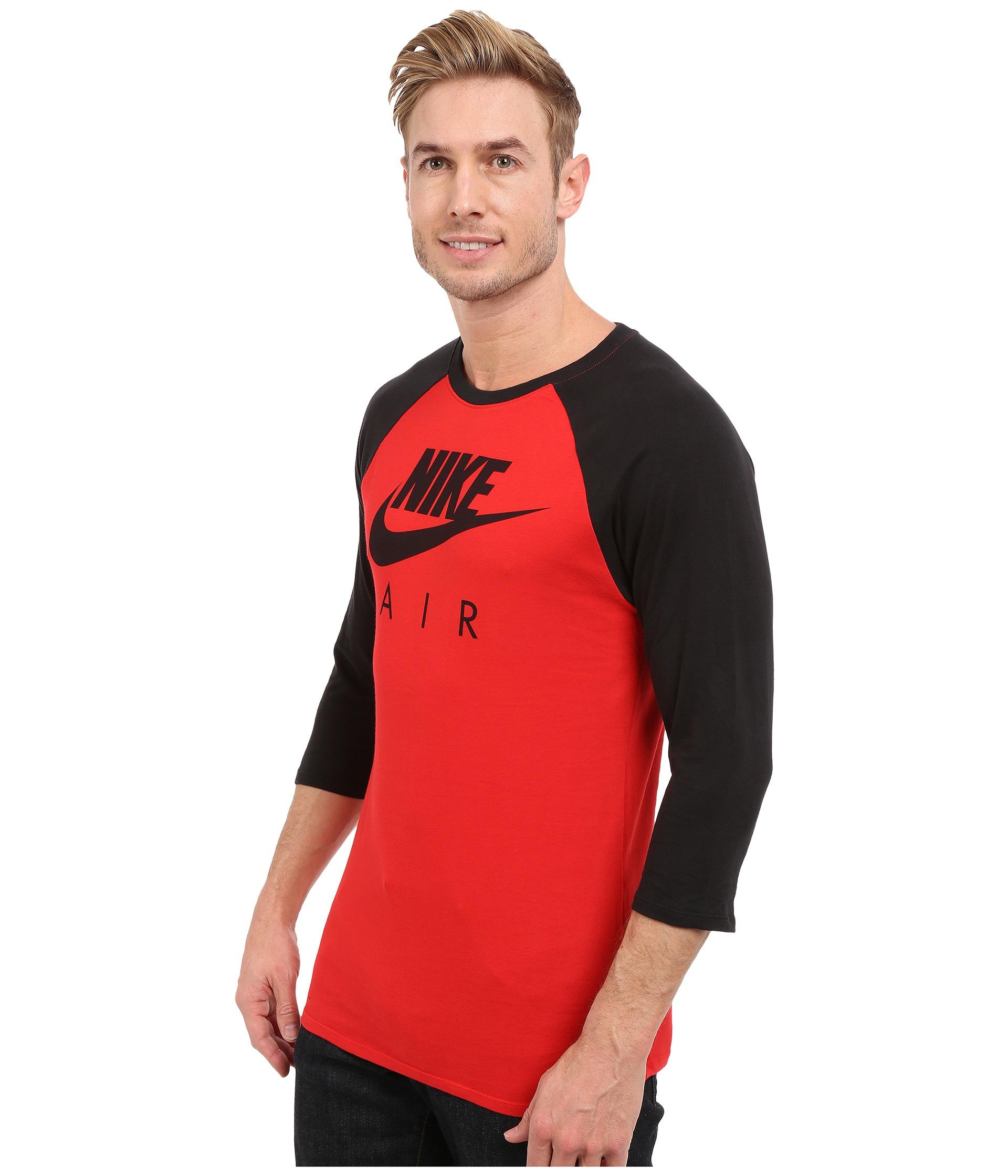 e06b60b2 Nike Air 3/4 Raglan Tee in Red for Men - Lyst