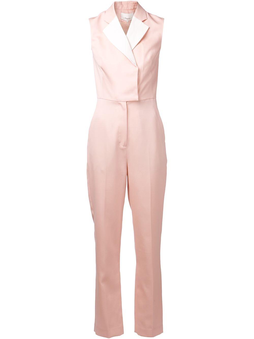 9cc77ece7ca Lyst - 3.1 Phillip Lim Tuxedo Jumpsuit in Pink
