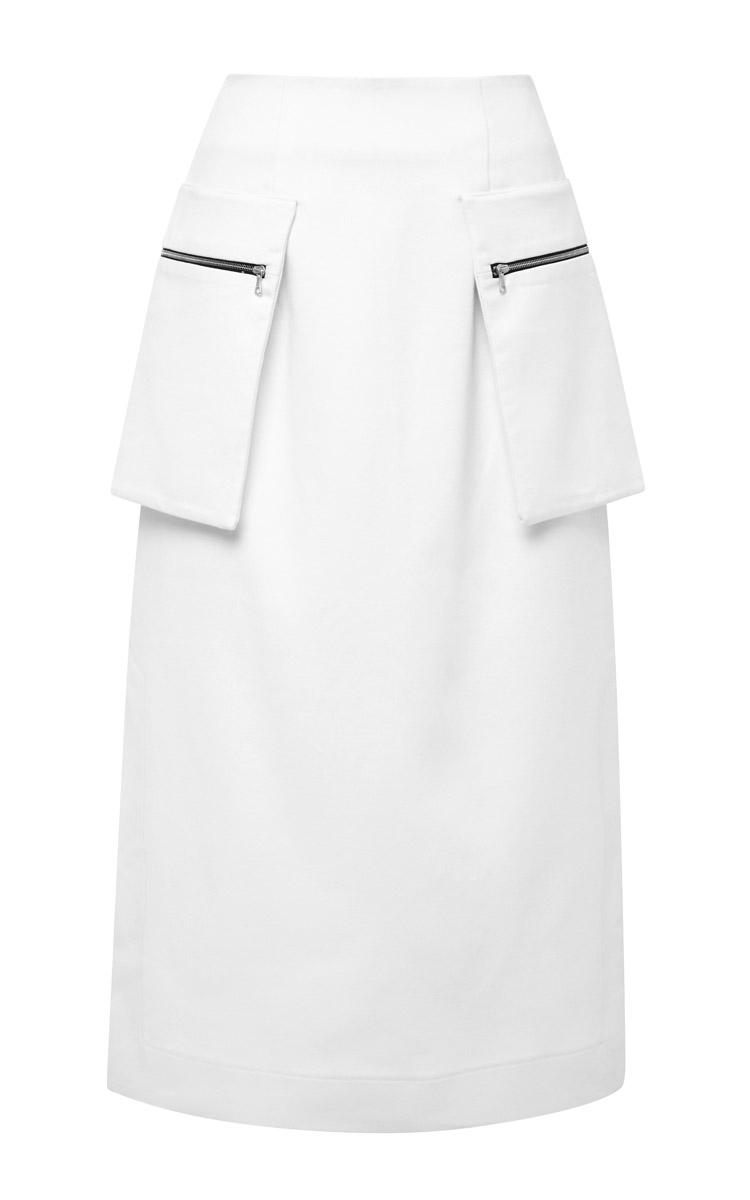Josh goot New Utility Long Line Pencil Skirt in White | Lyst