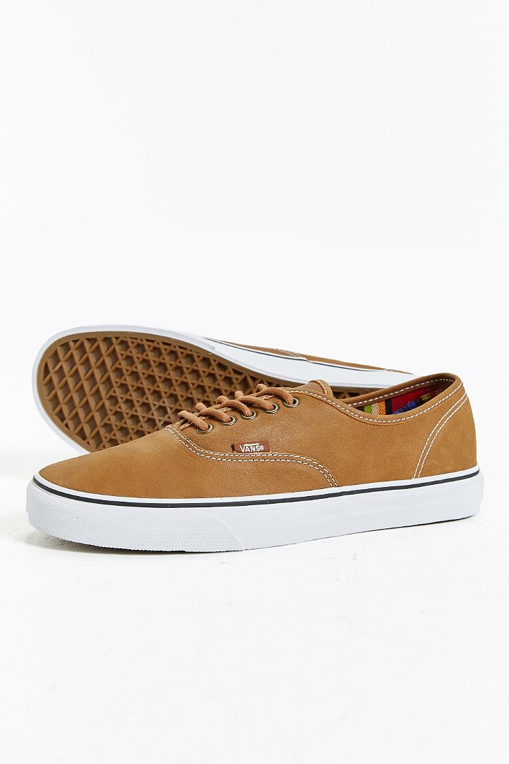 tan leather vans