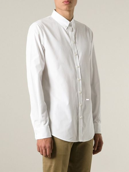 Dsquared Button Down Collar Shirt In White For Men Lyst