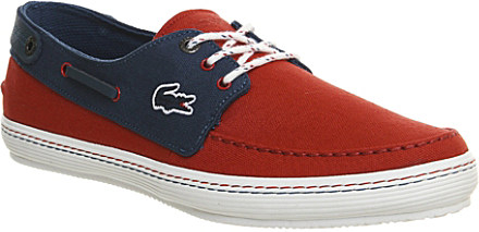 b9f25a7ca Lacoste Sumac Canvas Boat Shoes - For Men in Blue for Men - Lyst