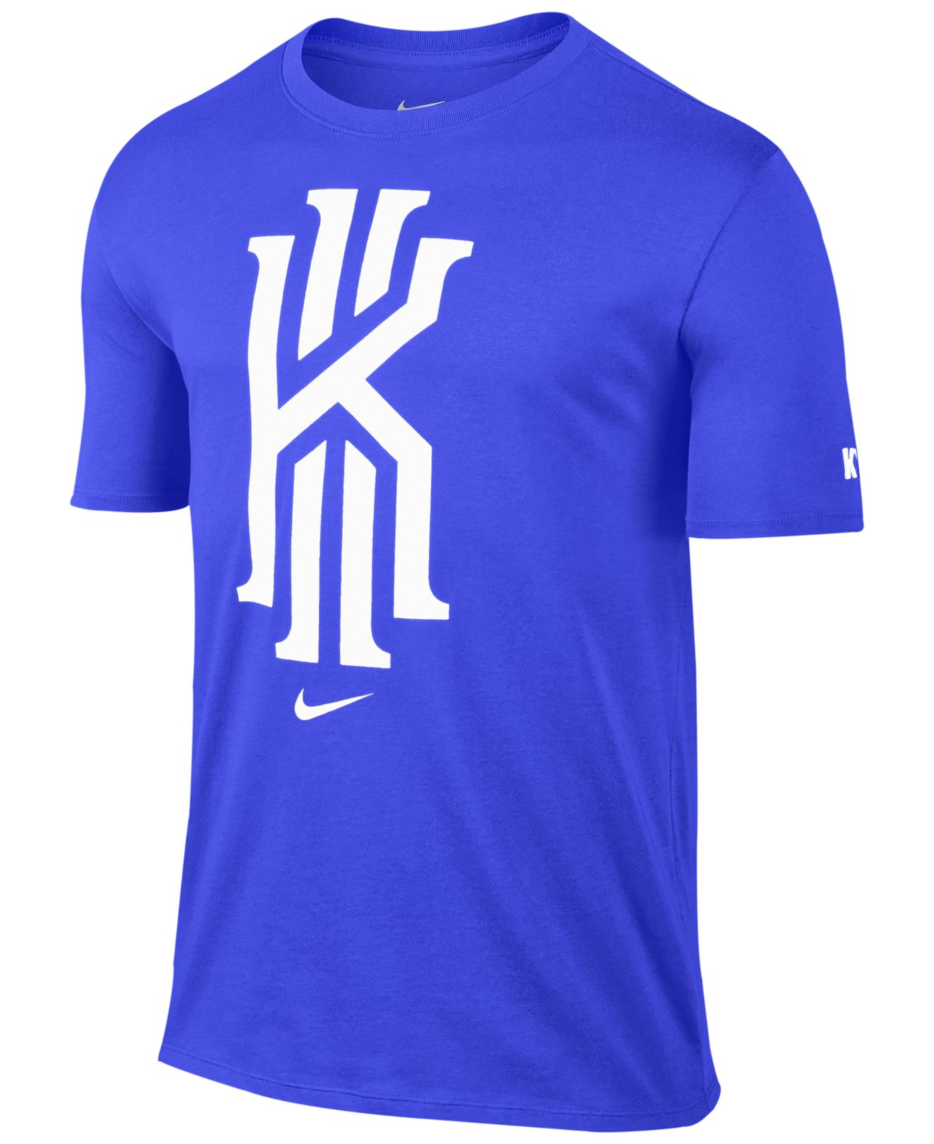 new style e9a6b 2038c Nike Blue Kyrie Foundation Logo Graphic T-shirt for men