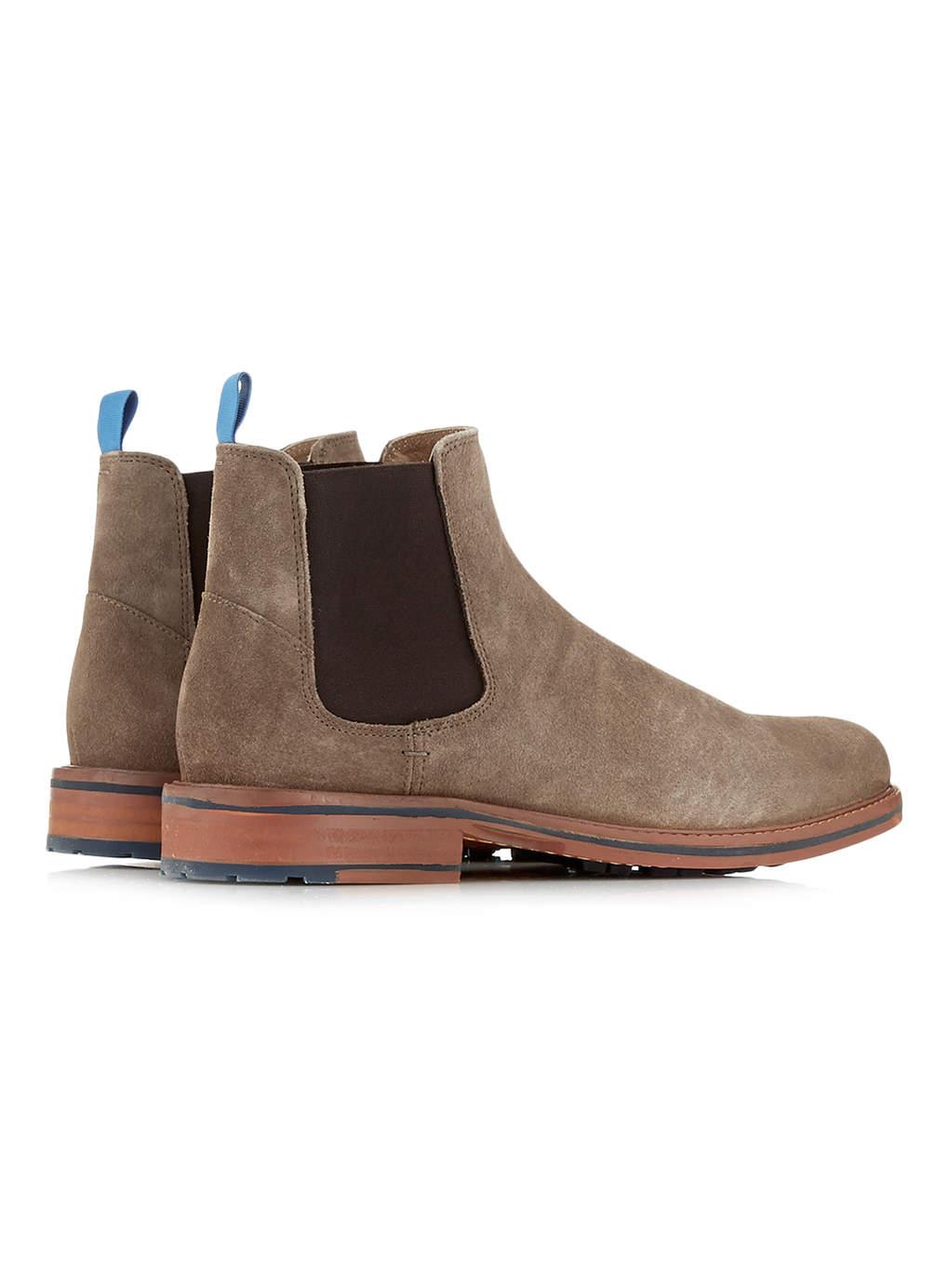 Ben Sherman Light Brown Suede Chelsea Boots For Men Lyst