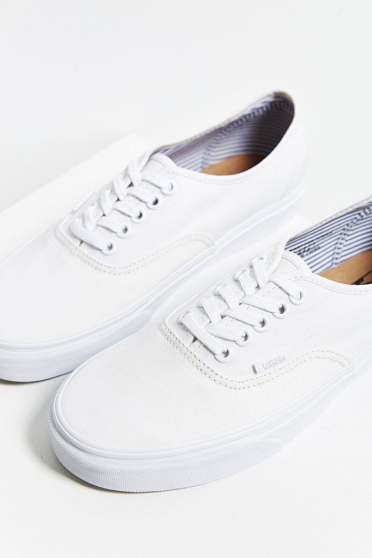 2eb6f25f9c Lyst - Vans Authentic Deck Club Sneaker in White