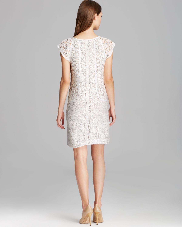 Trina turk Dress Clara Cap Sleeve Summertime Lace in White  Lyst