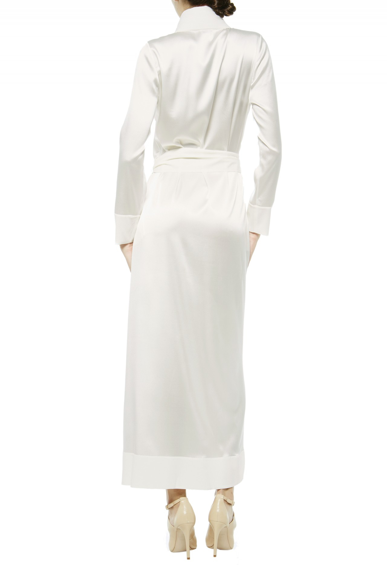 la perla robes in white natural lyst With robe la perla
