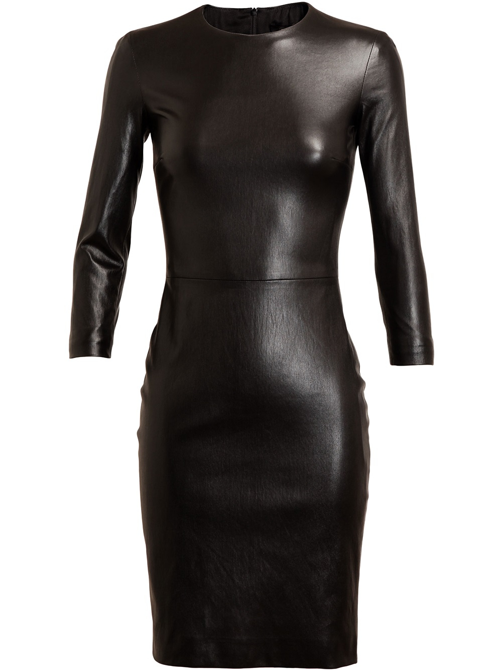 Lyst The Row Hentner Leather Pencil Dress In Black