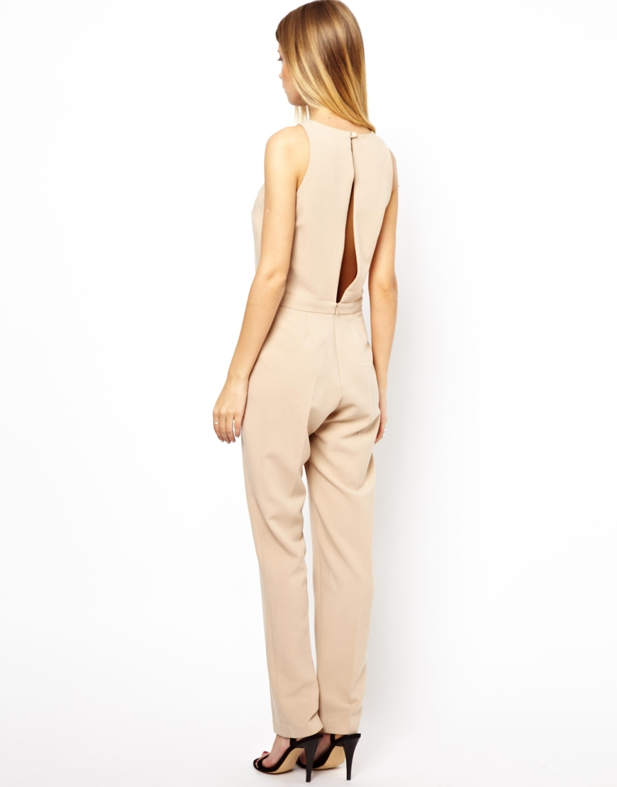 16 Chic Details For Cozy Rustic Living Room Decor: Asos Jumpsuit With Chic Racer Detail In Natural