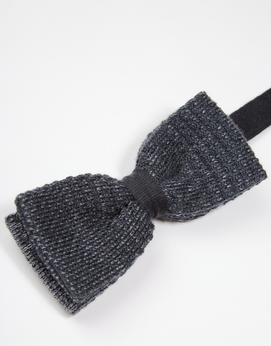 Lyst - Minimum Knitted Bow Tie in Gray for Men