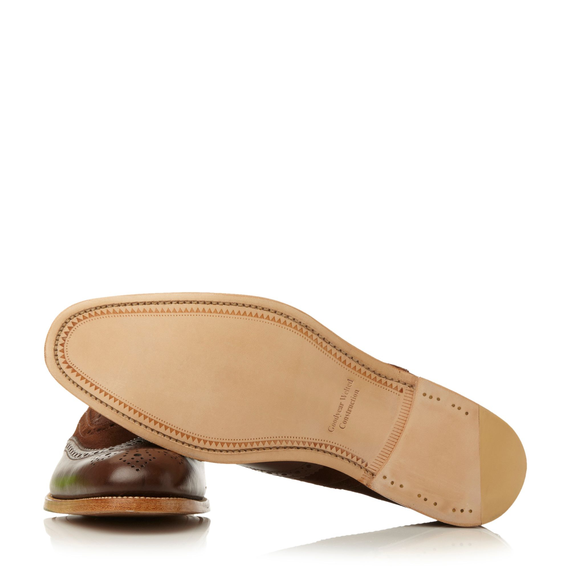 Loake Thompson Lace Up Brogues in Tan (Brown) for Men