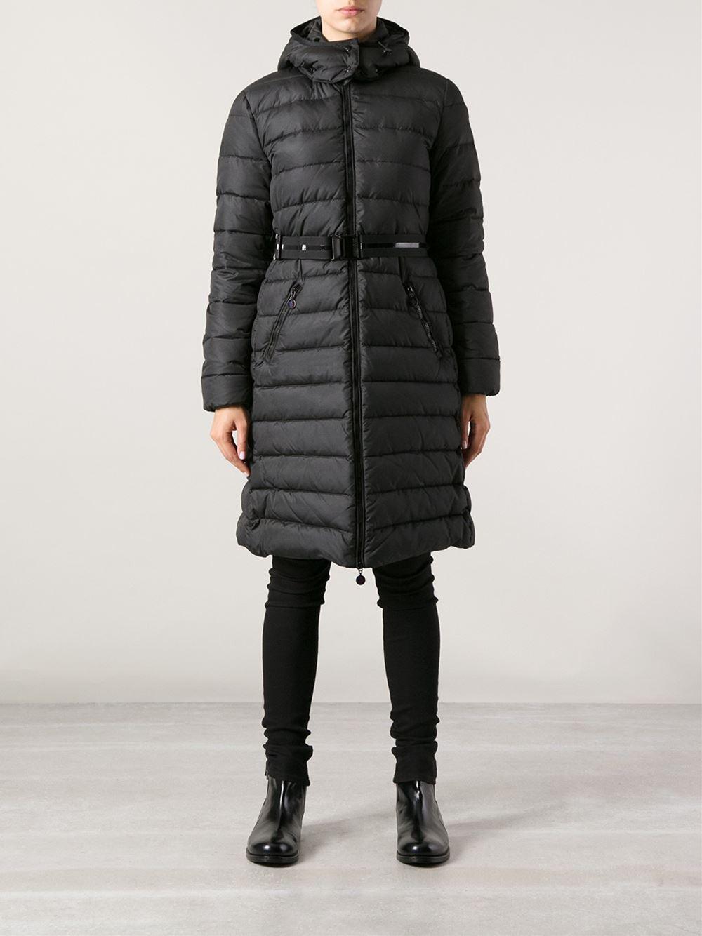 Moncler Black Mokacine Coat