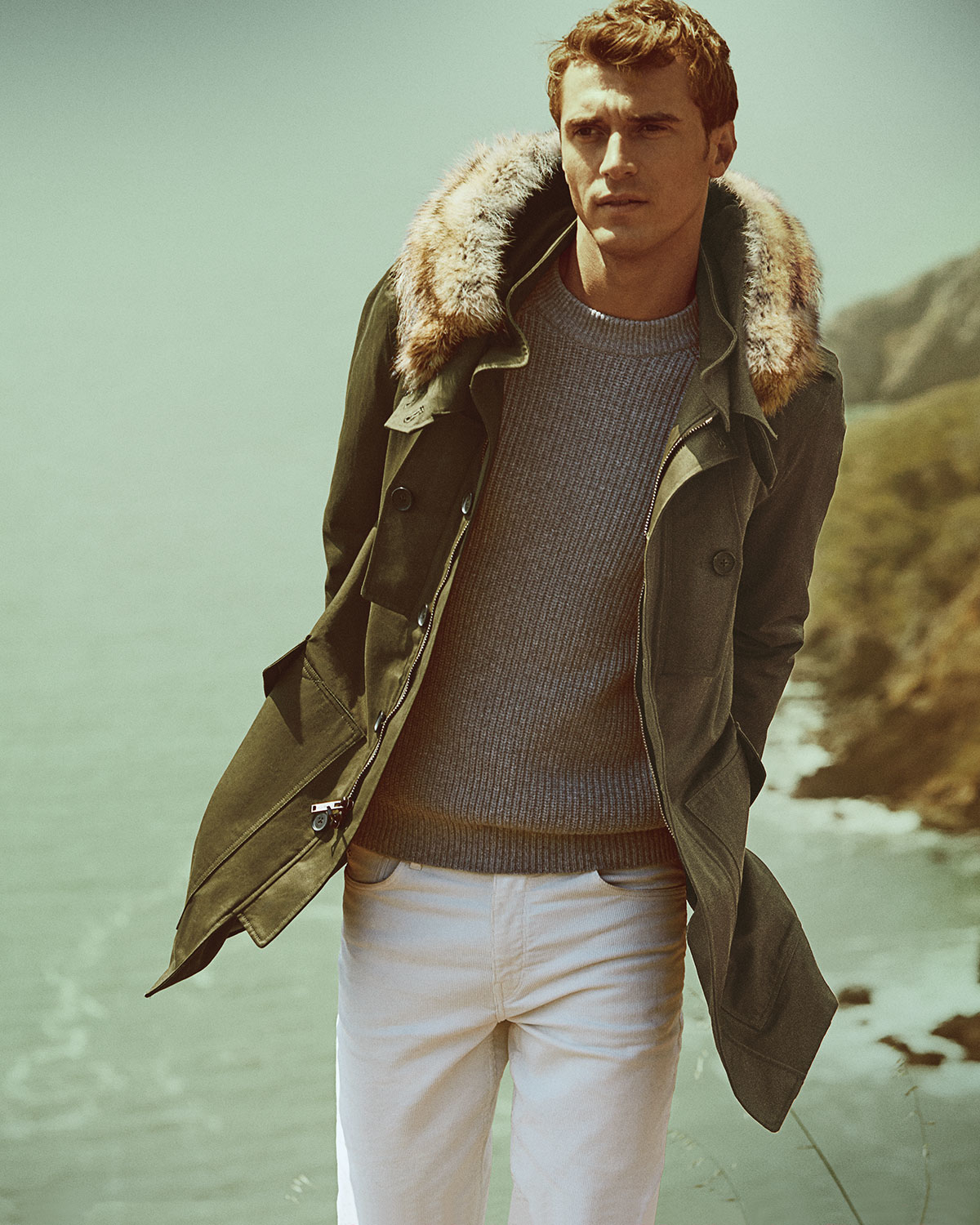 Mens jacket lined with fur - Gallery