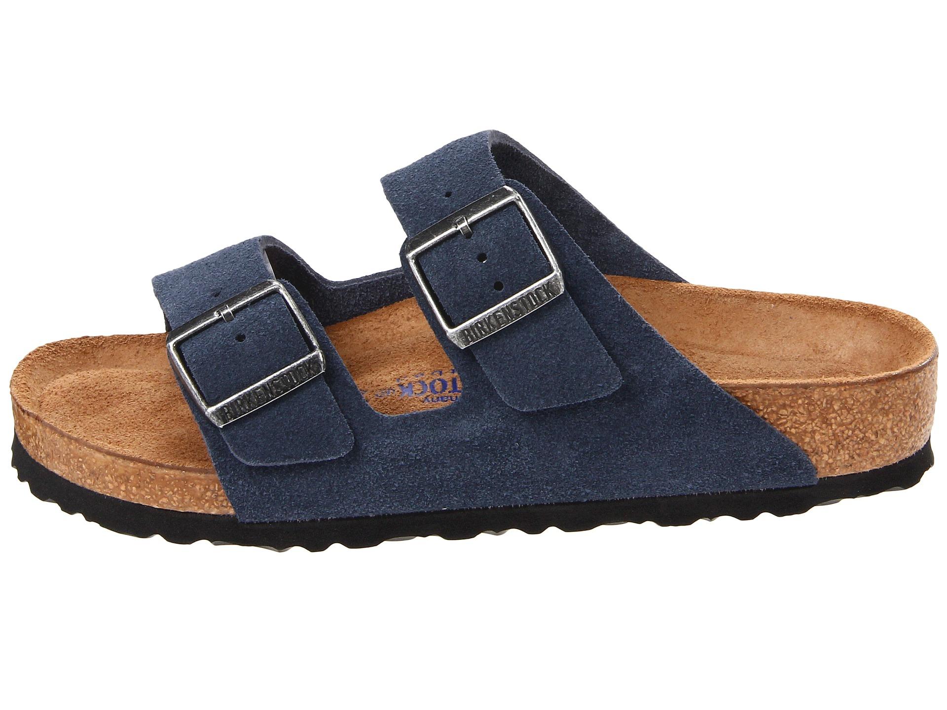 Lyst - Birkenstock Arizona Soft Footbed - Suede in Blue