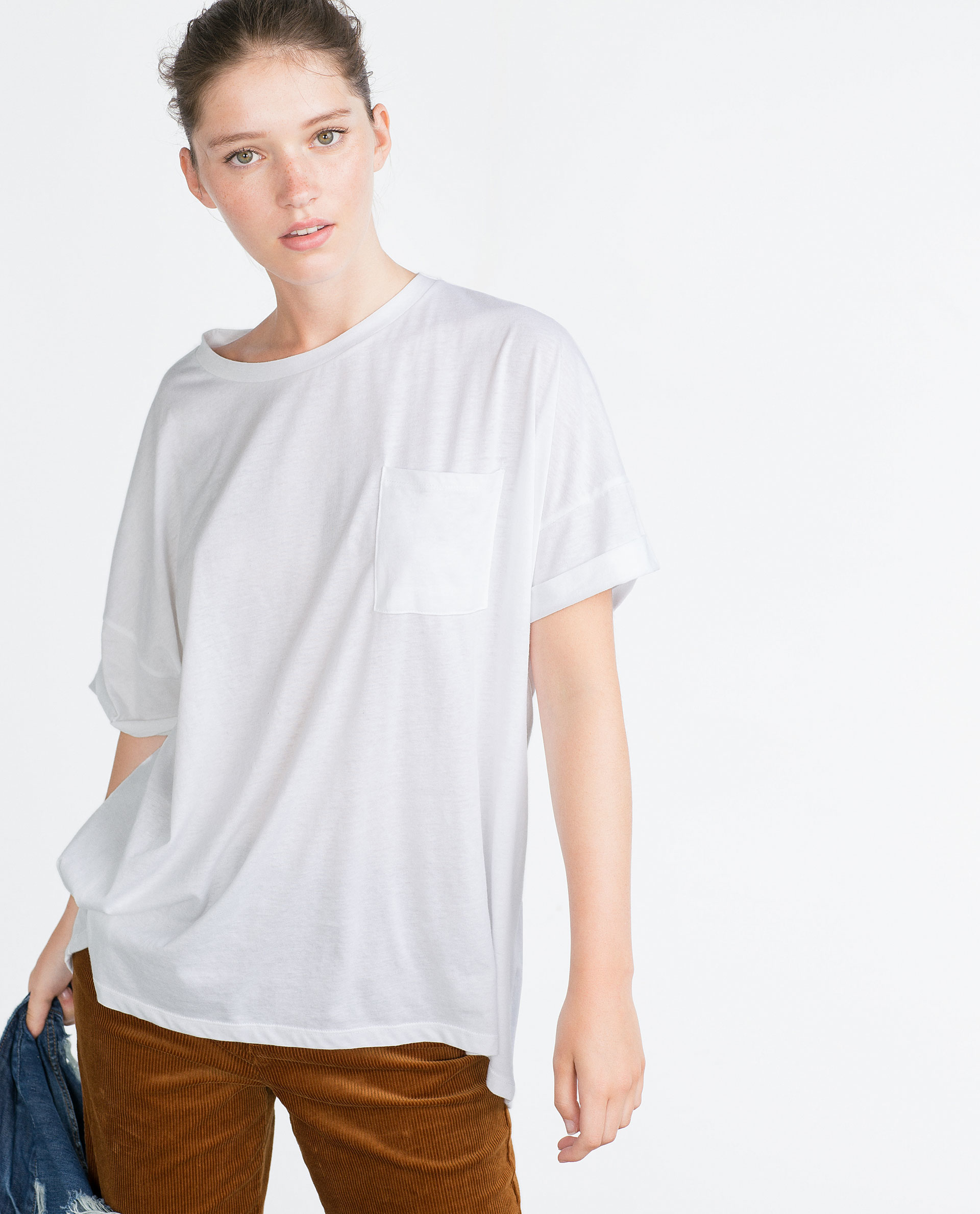 Zara Oversized T-Shirt Oversized T-Shirt In White  Lyst-5036