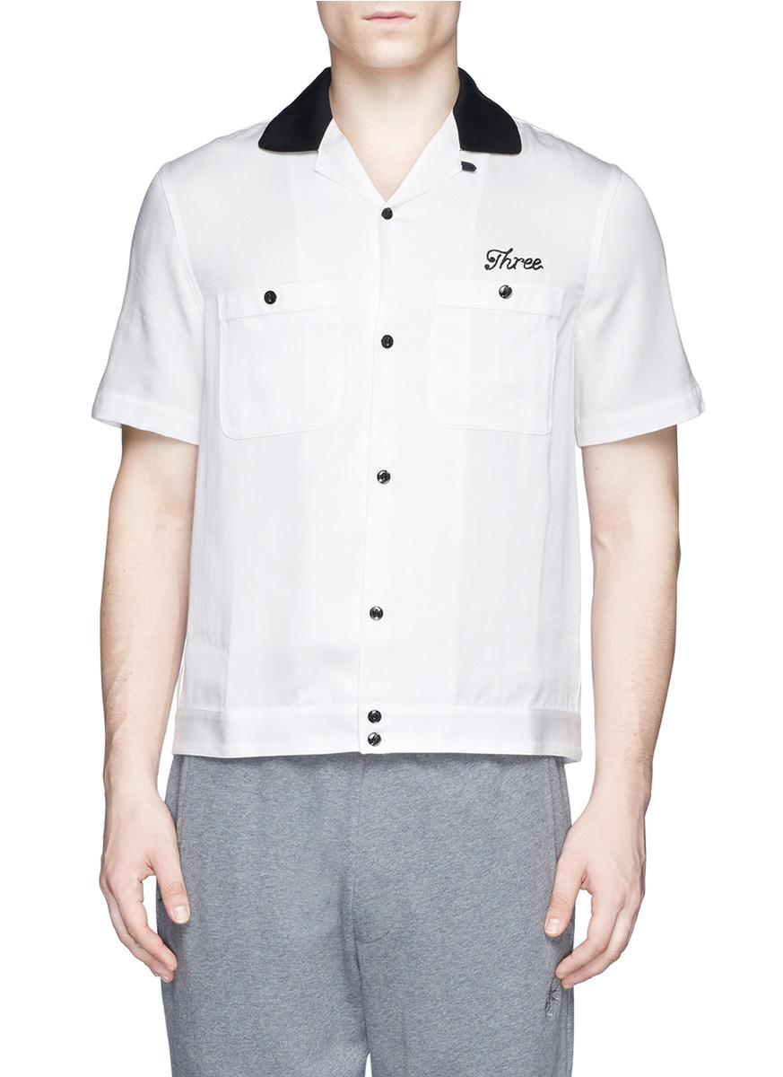Lyst rag bone 39 lane 39 embroidery shirt in white for men for Rag bone shirt