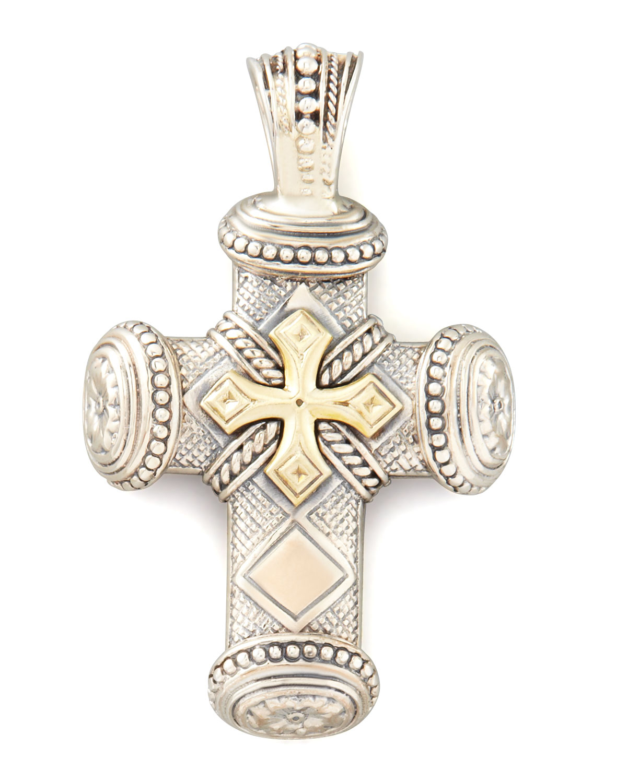 Lyst konstantino myrmidones mens sterling bronze cross pendant gallery mozeypictures Images