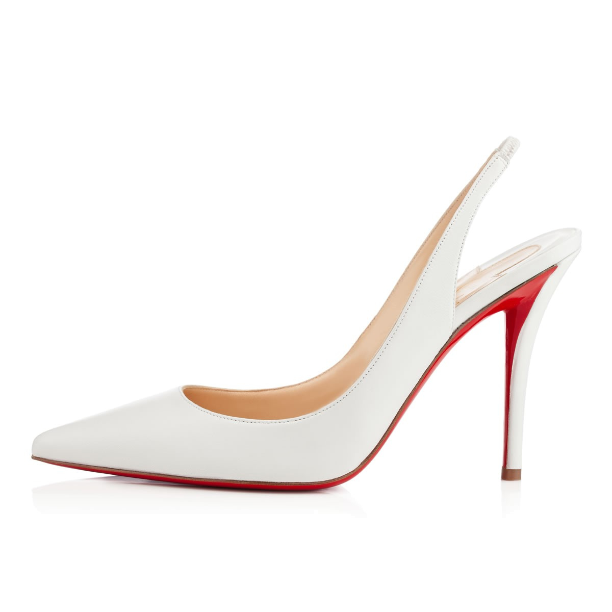 Lyst - Christian Louboutin Apostrophy Sling in White 78f23b8b6