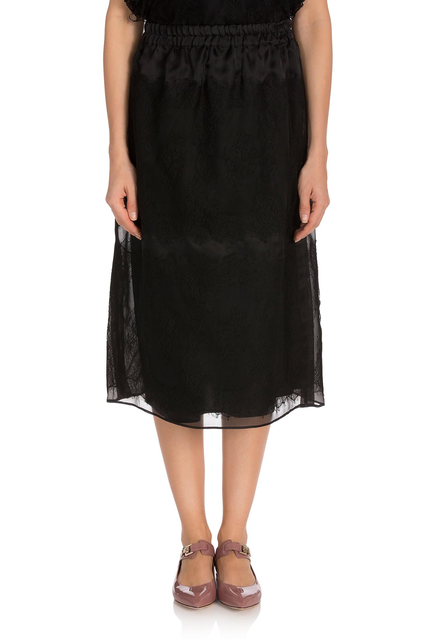 n 176 21 lace midi skirt in black lyst