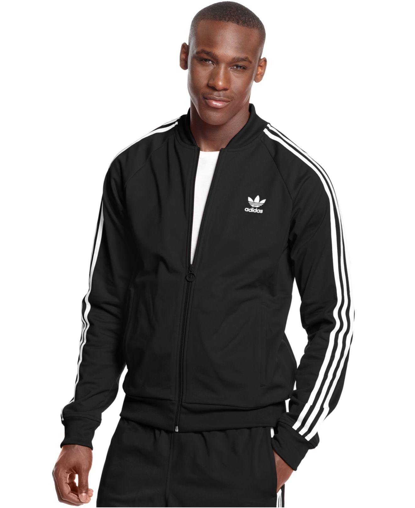 989547090116 Lyst - adidas Originals Superstar Track Jacket in Black for Men