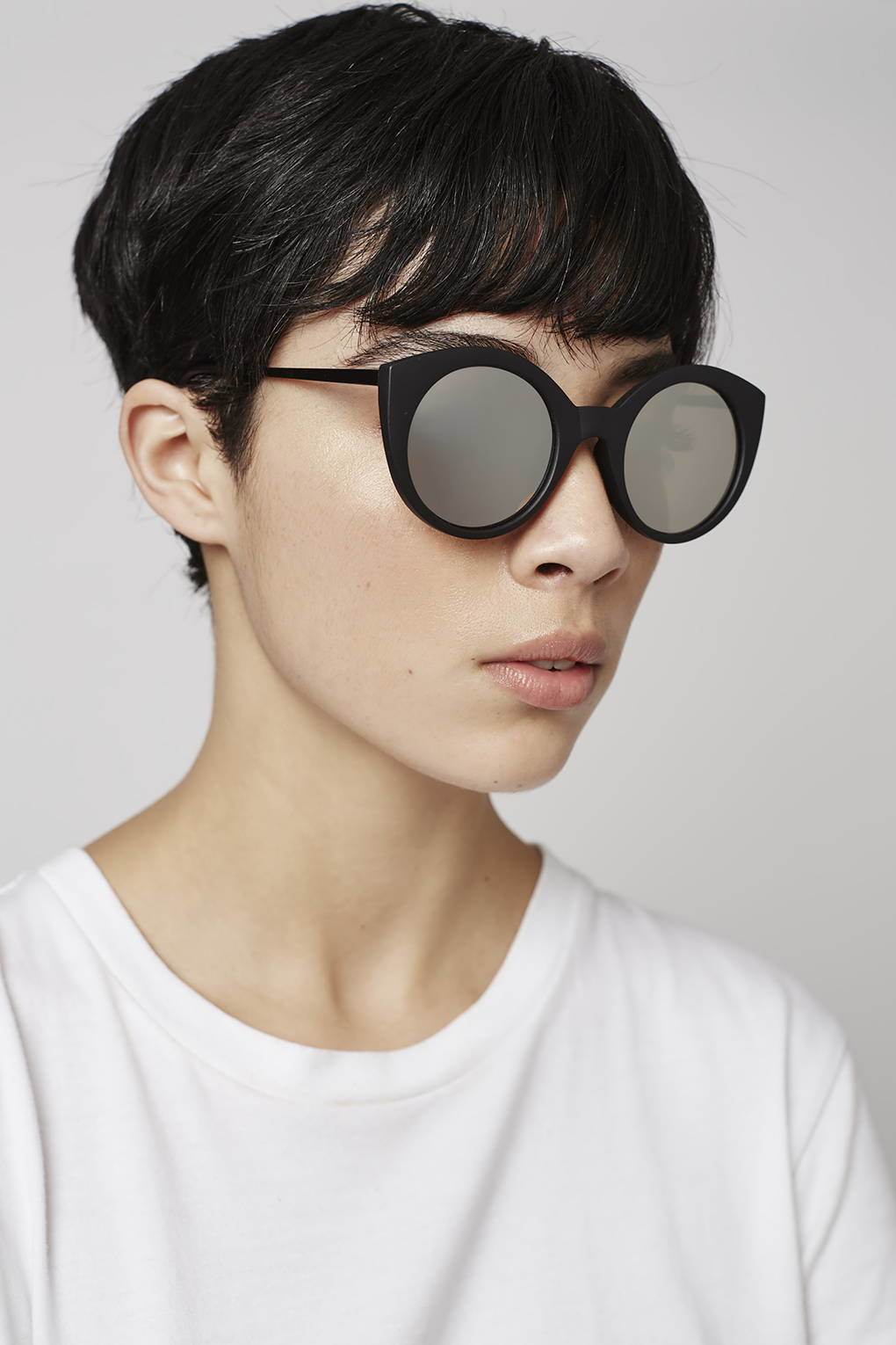 Preppy Sunglasses  top cactus preppy cateye sunglasses in black lyst