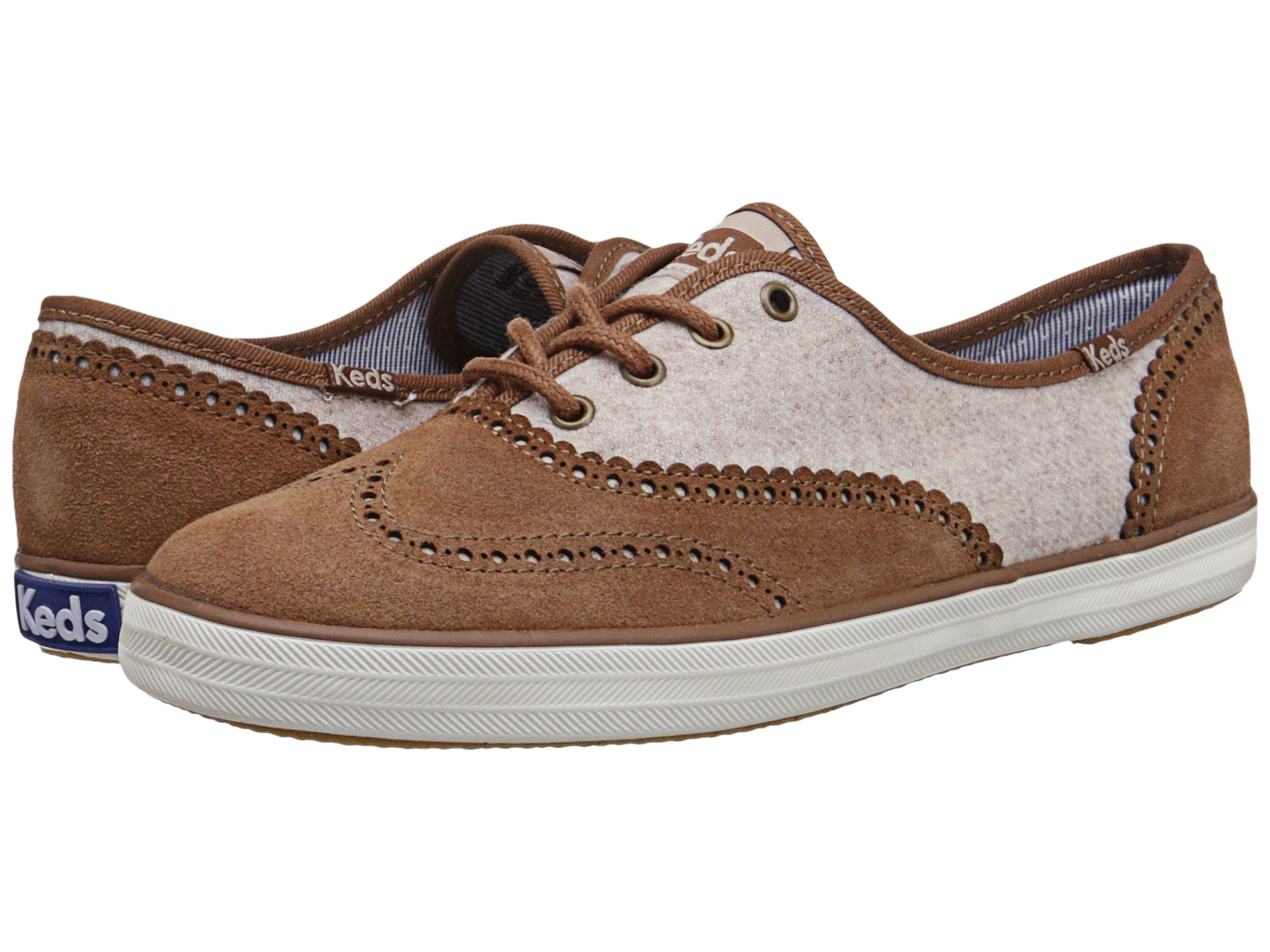 9c06654b85d Lyst - Keds Champion Brogue in Brown