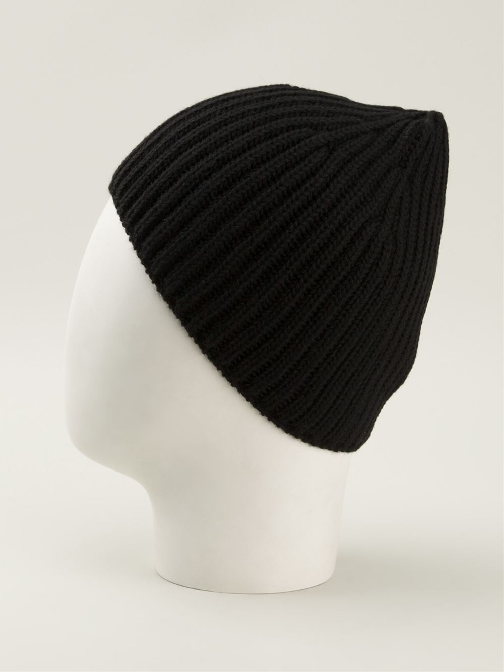 5a512d868b7 Lyst - Iceberg Ribbed Beanie Hat in Black for Men