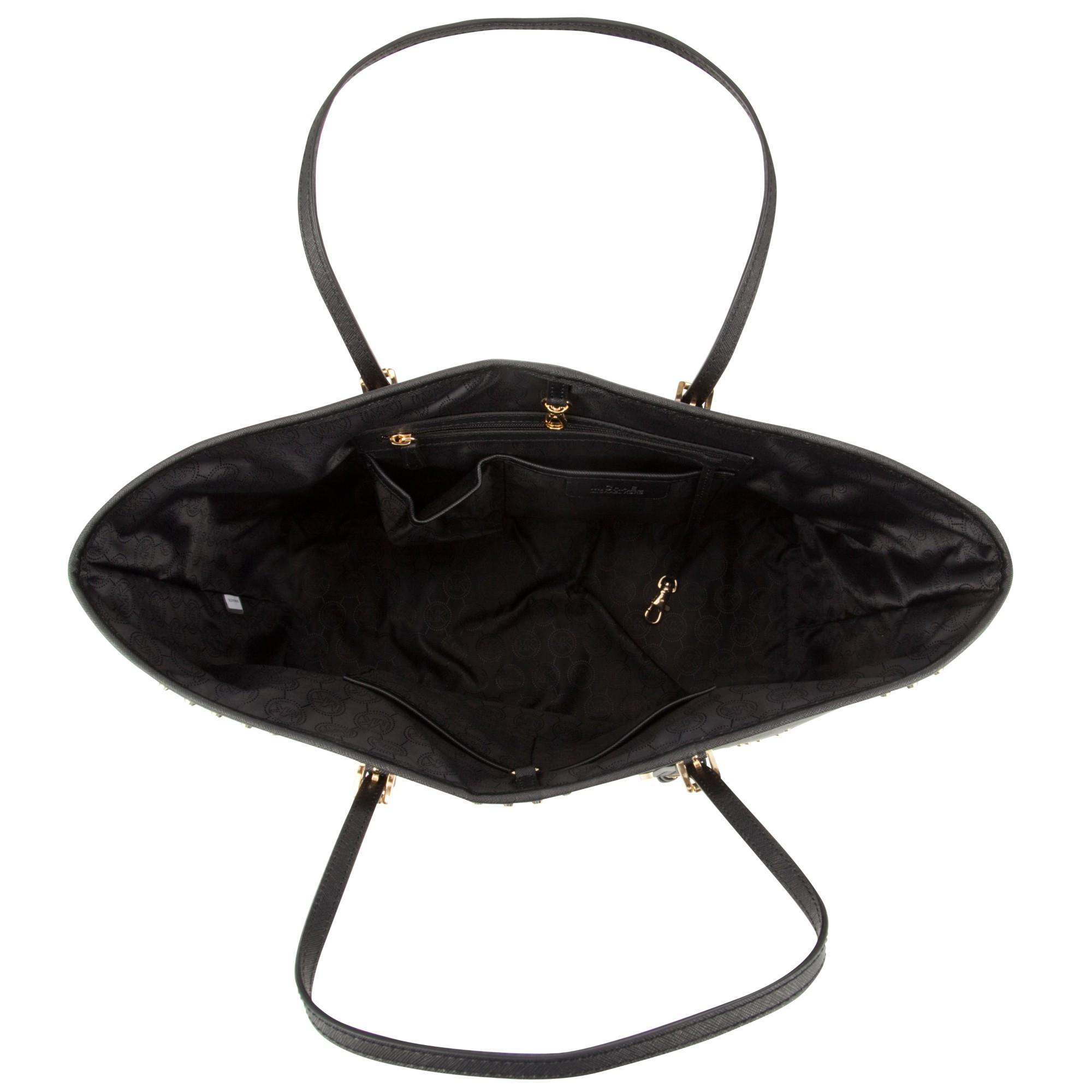 Michael Kors Michael Medium Jet Set Stud Travel Tote Bag in Black