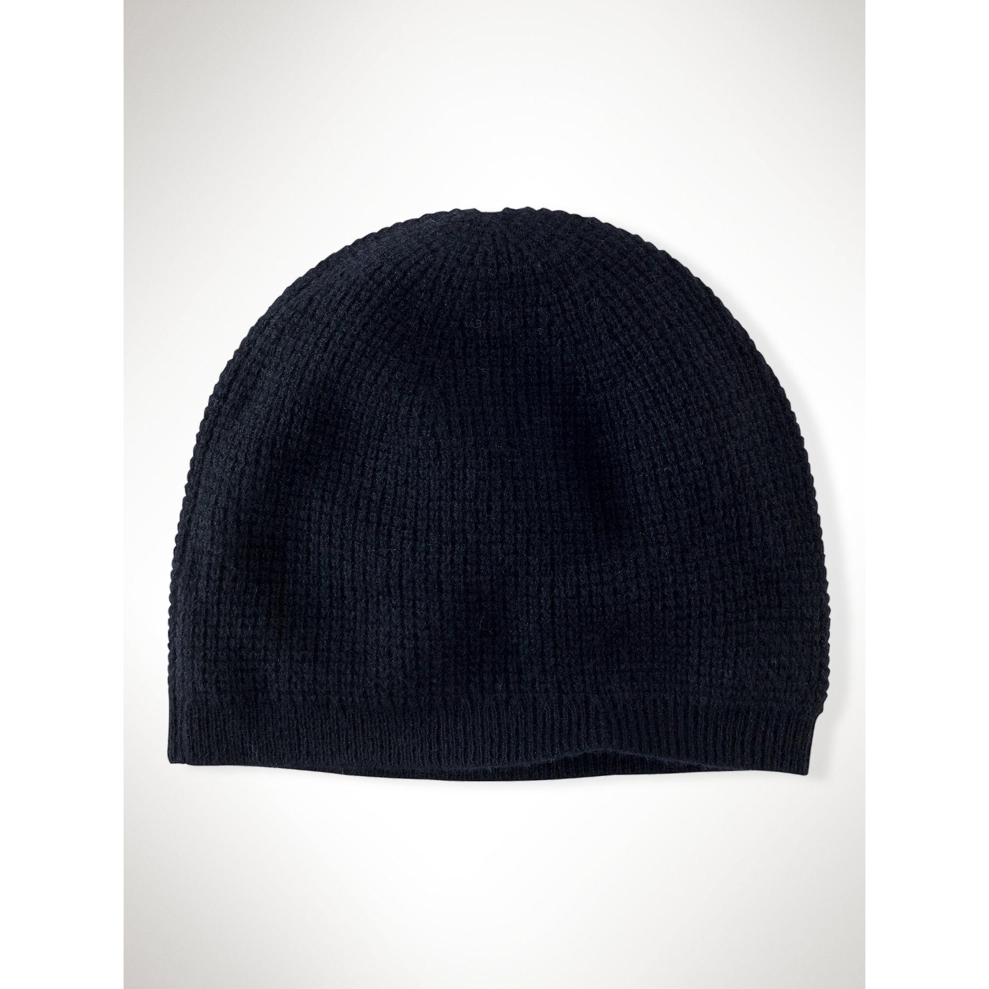 Knitting Pattern Cashmere Hat : Ralph lauren black label Waffle-Knit Cashmere Hat in Black Lyst