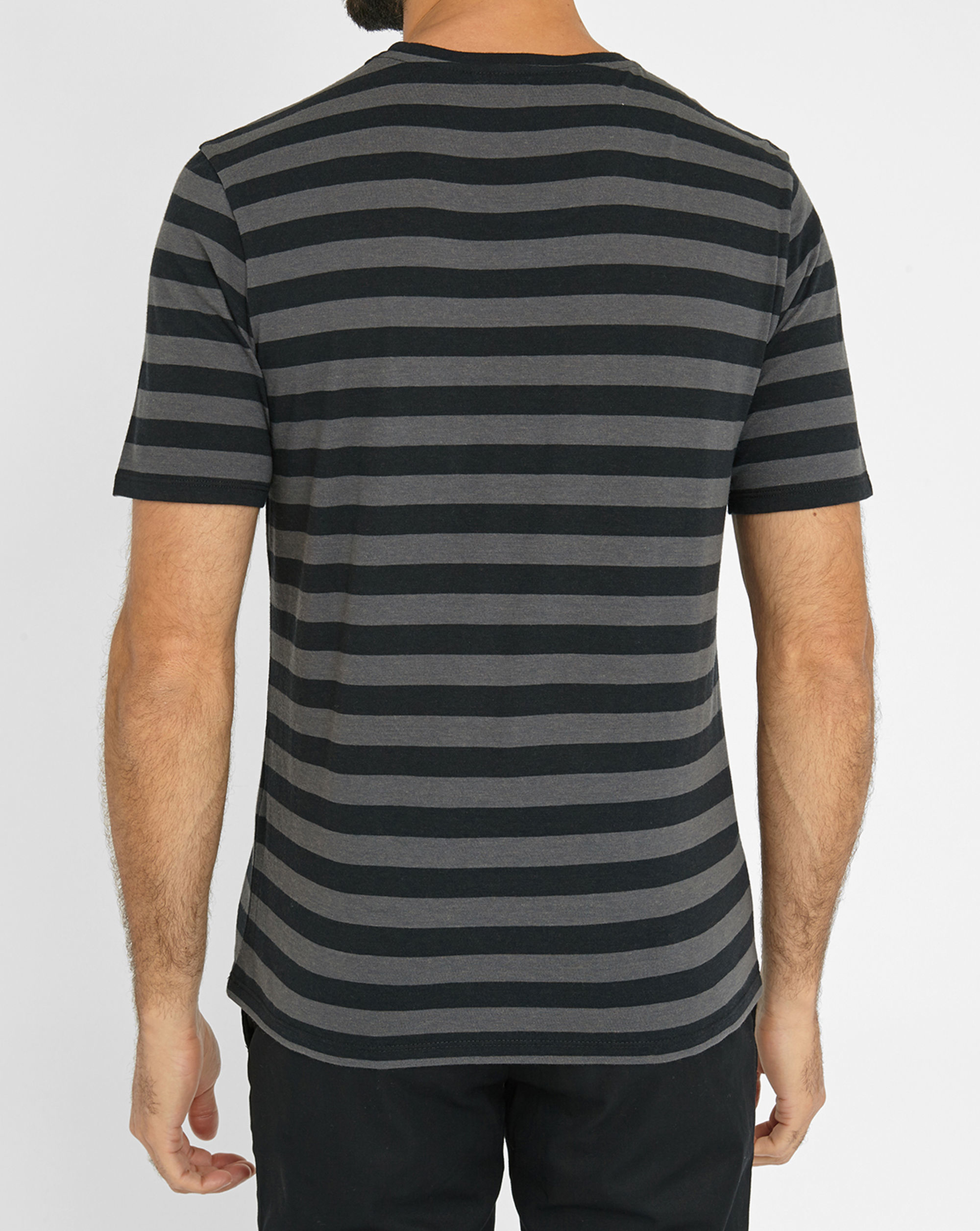 The kooples black grey striped round neck t shirt with Grey striped t shirt