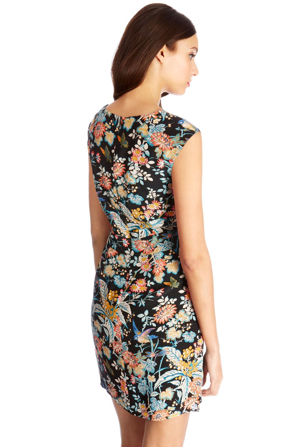 Oasis Silk Japanese Bird Dress In Multicolor Lyst