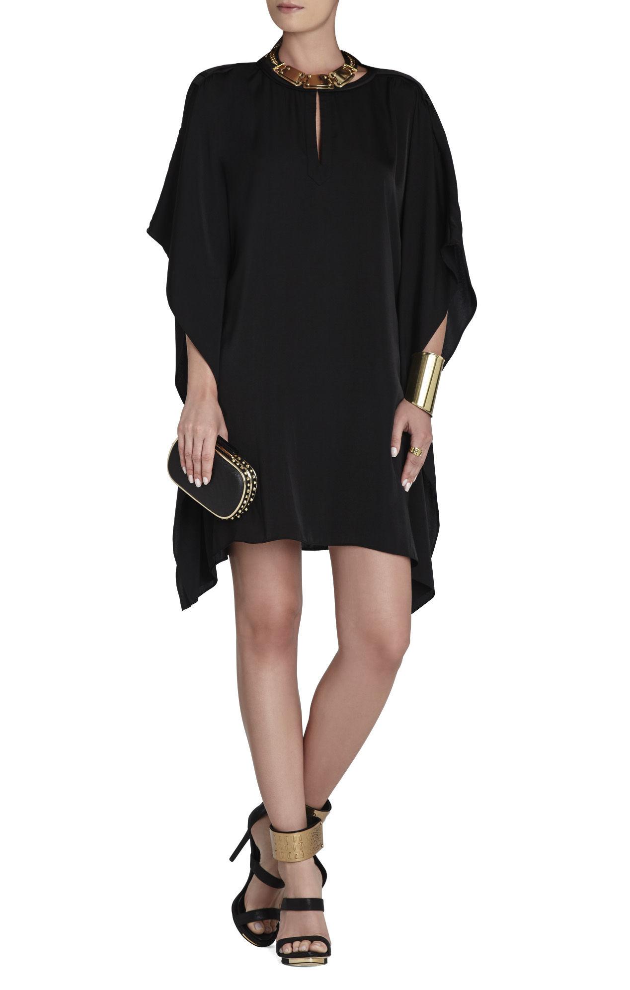 Bcbgmaxazria Jazmine Draped Kimono Dress In Black Lyst