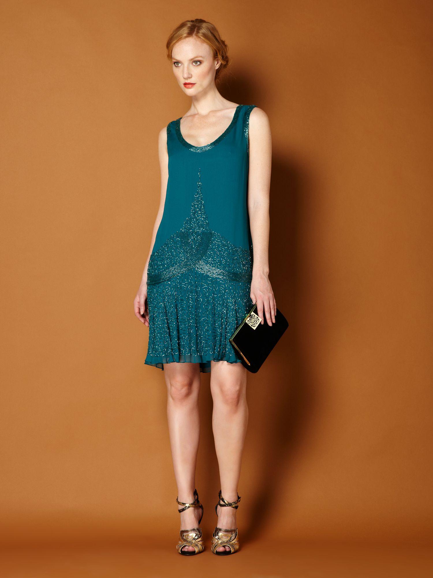 Biba Beaded Flapper Dress in Blue Lyst