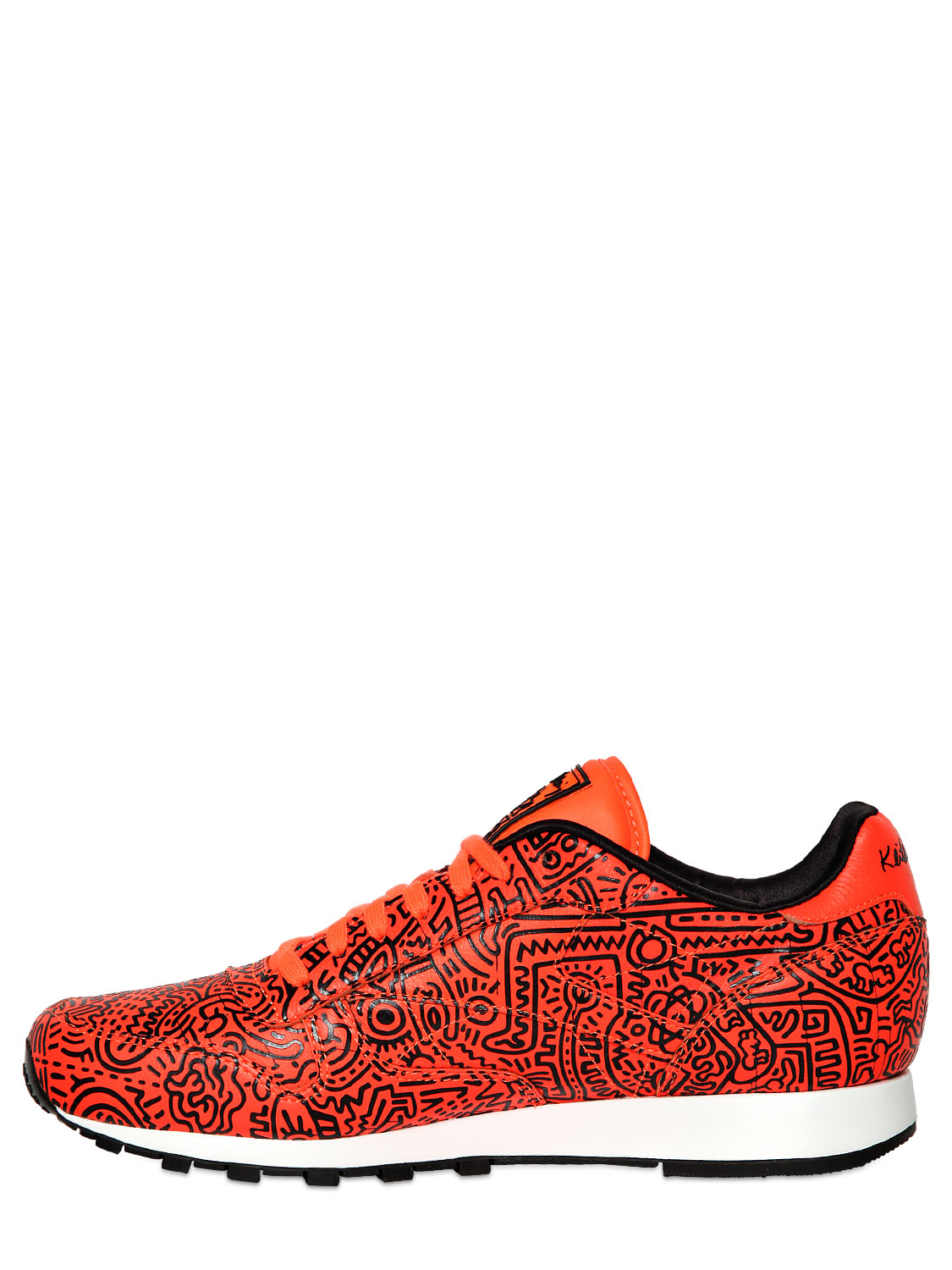 c6e430a789a Lyst - Reebok Leather Keith Haring Running Sneakers in Orange for Men