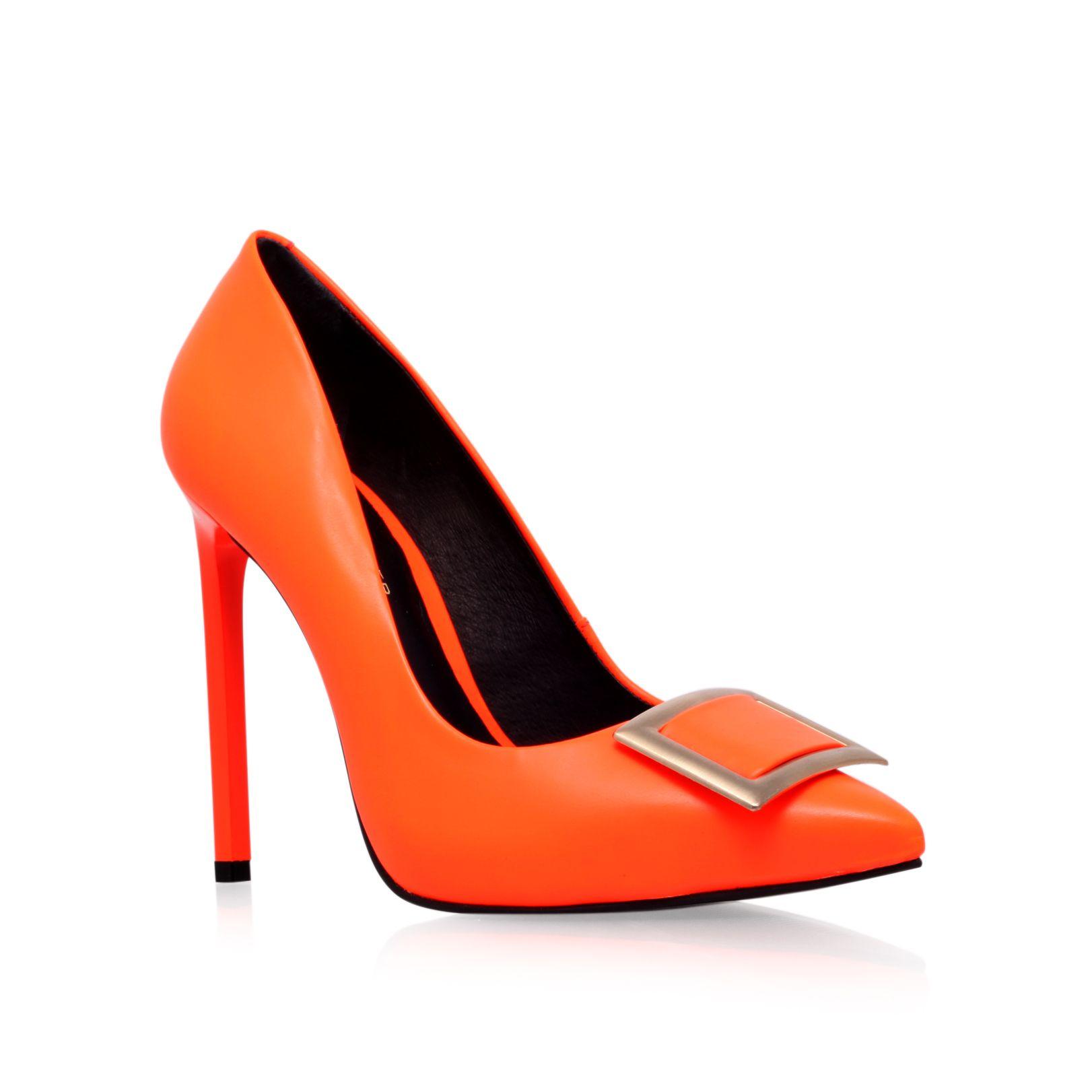 kg by kurt geiger bryony high heel court shoes in orange lyst. Black Bedroom Furniture Sets. Home Design Ideas