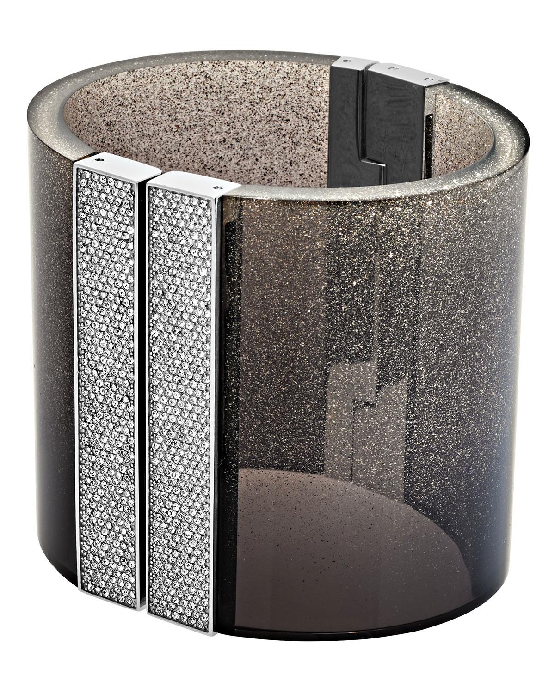 Cityscape Shimmer Wide Cuff Bracelet