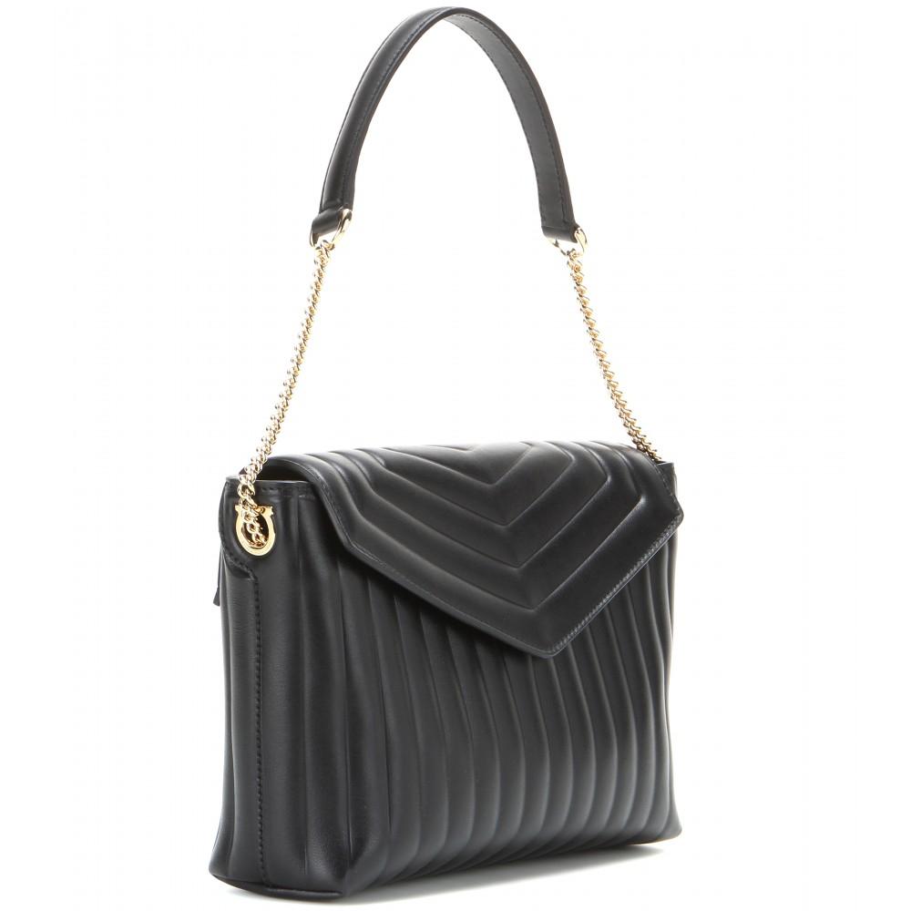 handbags bags lanvin shoulder quilted quilt leather black bag all happy