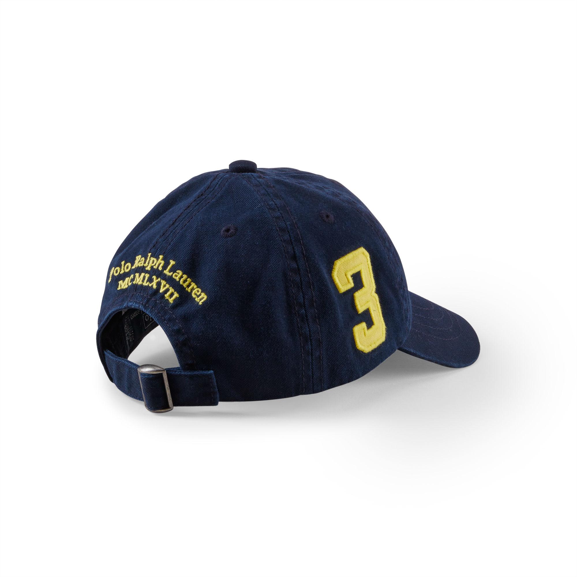 ee37737841a66 Ralph Lauren Big Pony Cotton Baseball Cap in Blue for Men - Lyst