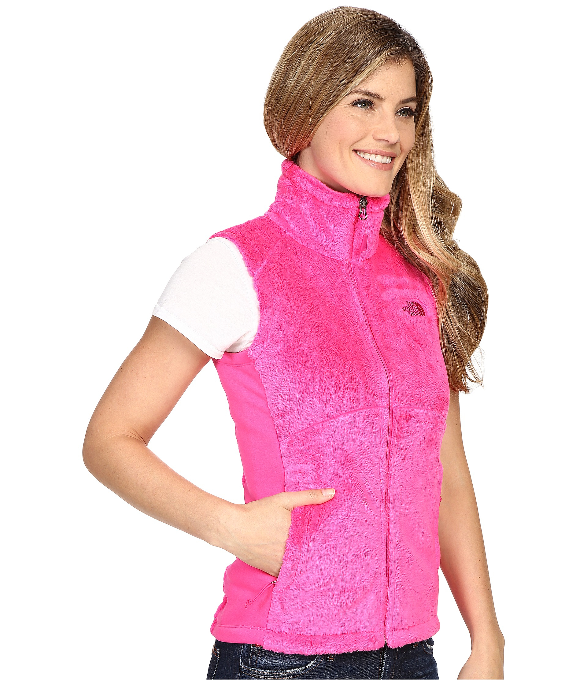 ae0da38c9a ... free shipping lyst the north face osito vest in pink 1a2f6 80daf