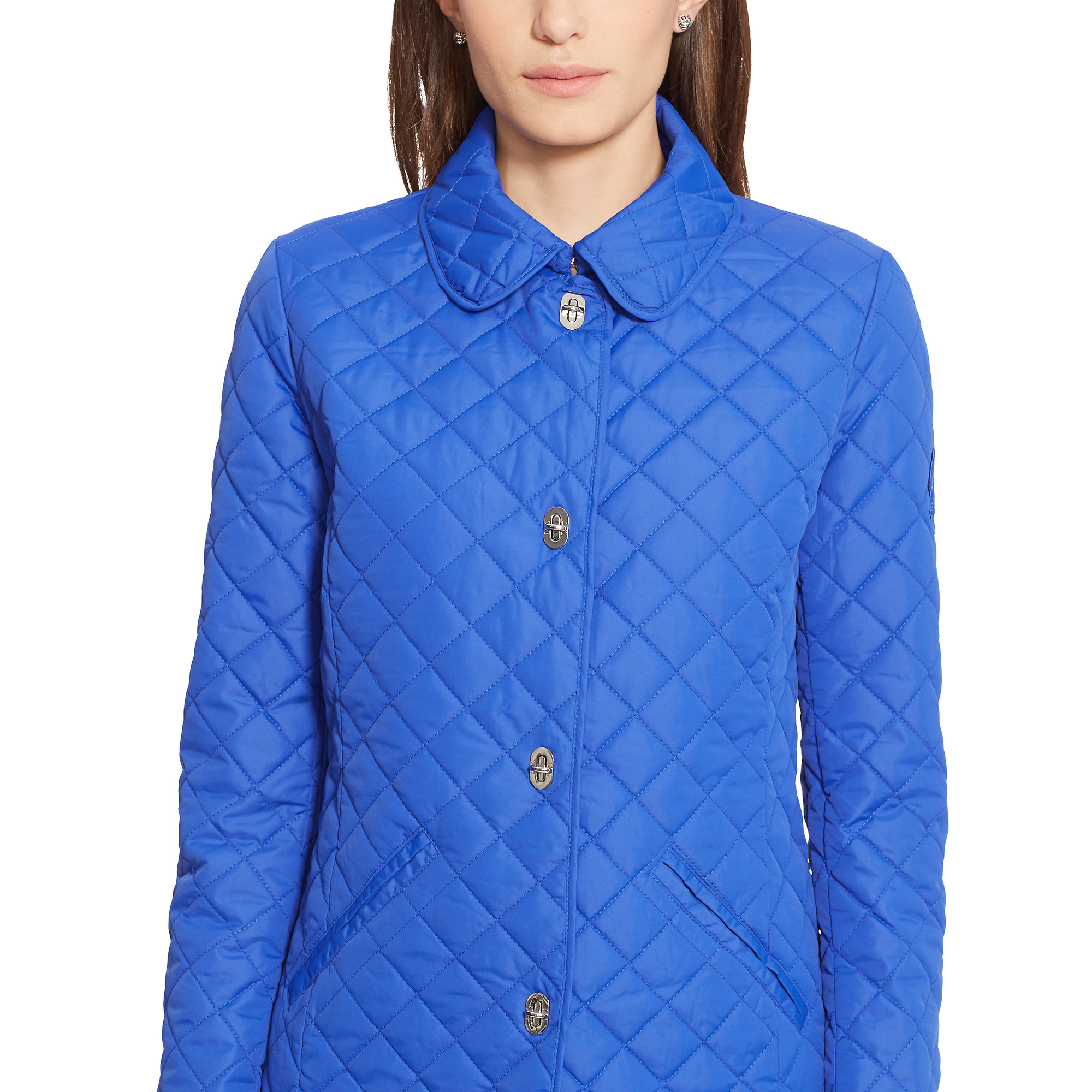 Pink Pony Quilted Turn Lock Jacket In Blue Lyst