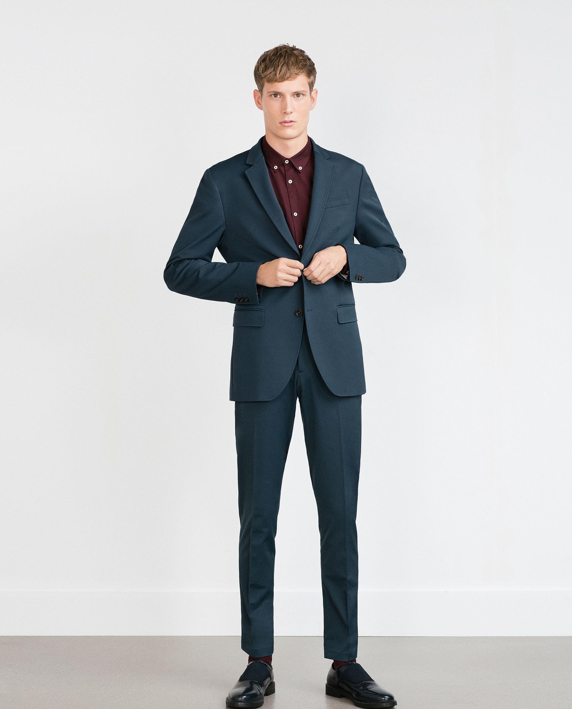 Zara Suit Trousers in Blue for Men | Lyst