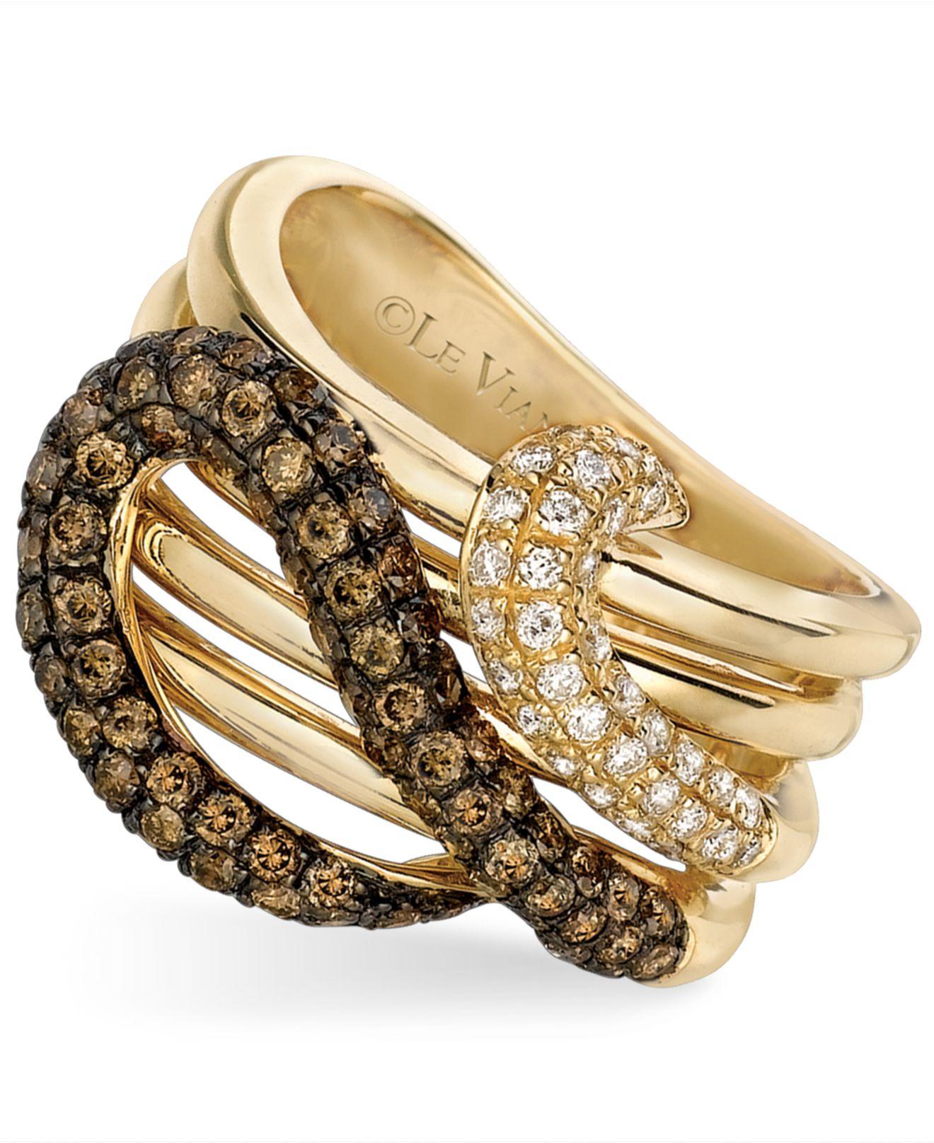 Le Vian Chocolate Diamond And White Diamond Snake 1 1 6