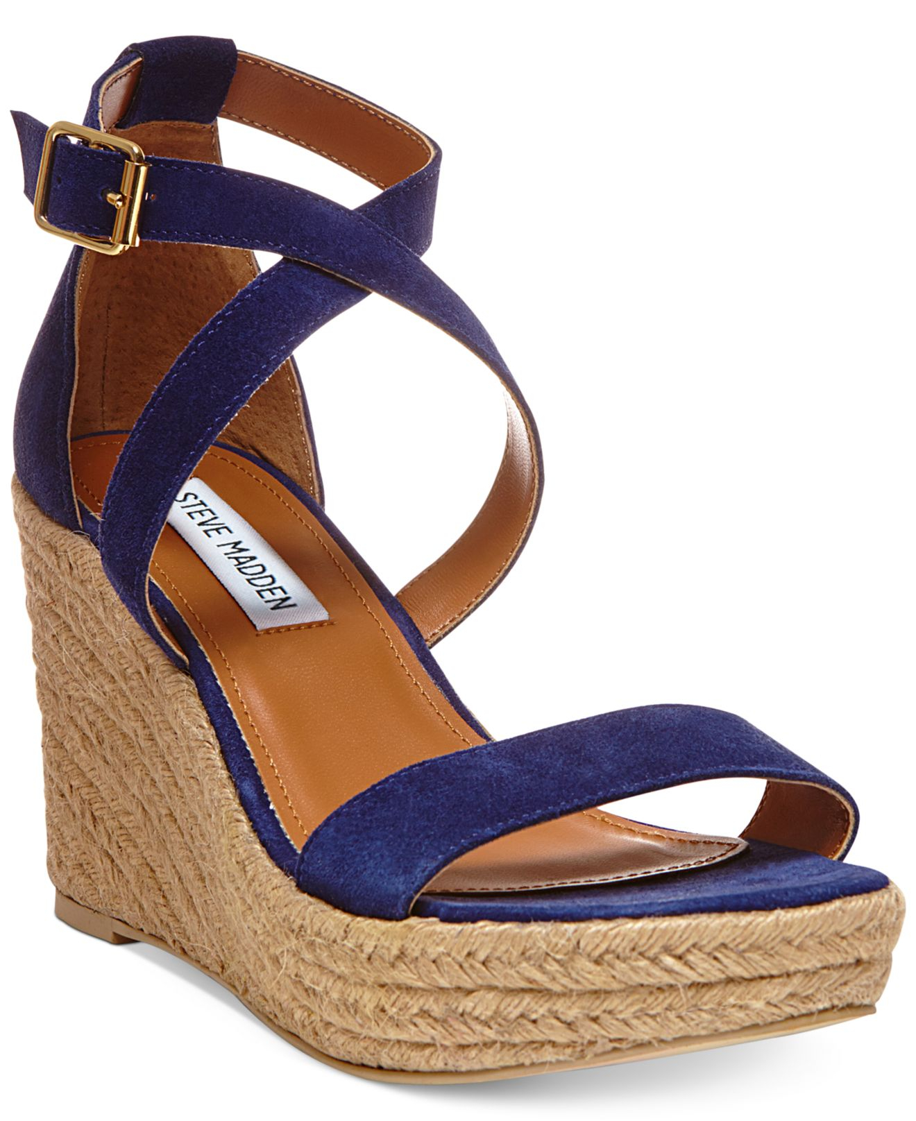 22ffd3cfc4fa8f ... Lyst Steve Madden Women S Montaukk Platform Wedge Sandals In Blue shoes  for cheap 49d1d d4b62 ...